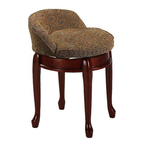 Swivel Vanity Stool Home Decorators Collection Delmar Tapestry Swivel Vanity Stool 5544400810 The Home Depot