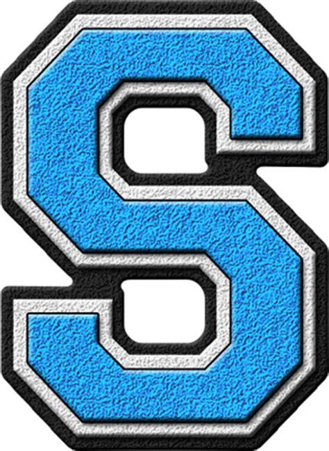 S Light by Presentation Alphabets Light Blue Varsity Letter S