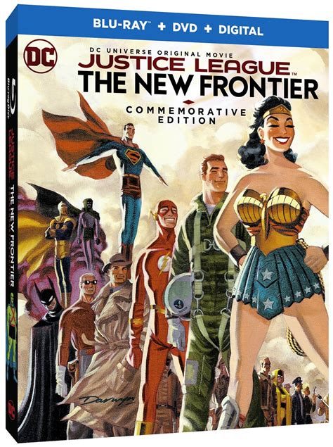 movie justice league new frontier justice league new frontier commemorative blu ray coming