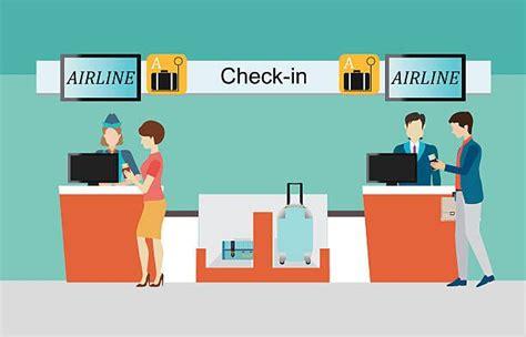 royalty  airport check  counter clip art vector