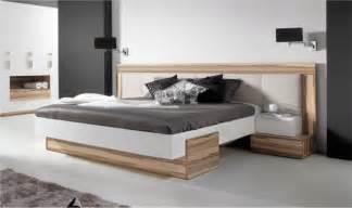 lit bois design 2 places avec tte de lit large