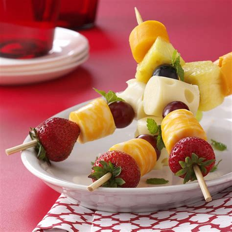 2 fruit recipes fruit n cheese kabobs recipe taste of home