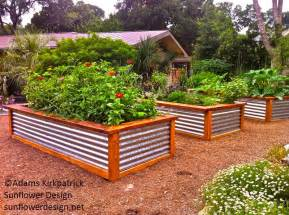 Corrugated Metal Raised Garden Beds - raised beds