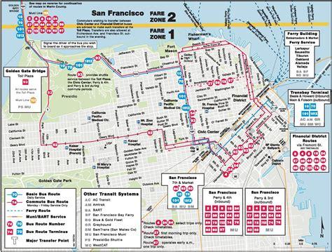 san francisco map in usa san francisco map