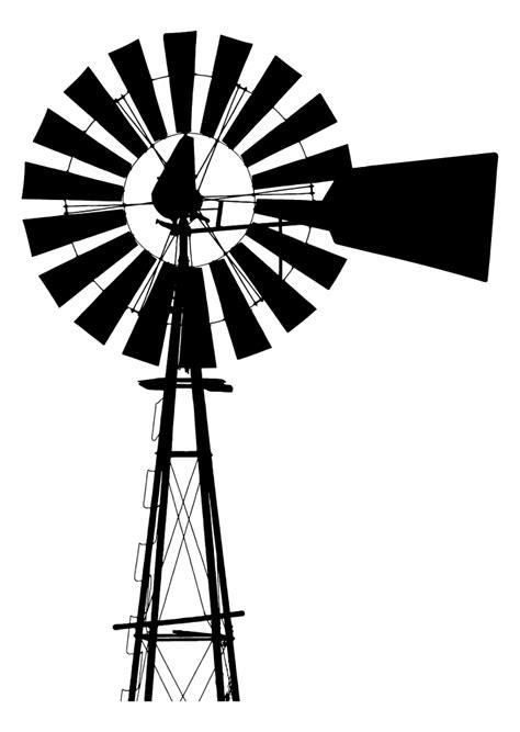 OnlineLabels Clip Art - Windmill Silhouette