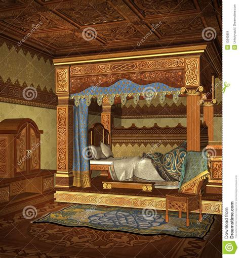 fantasy bedroom  stock illustration image  chamber