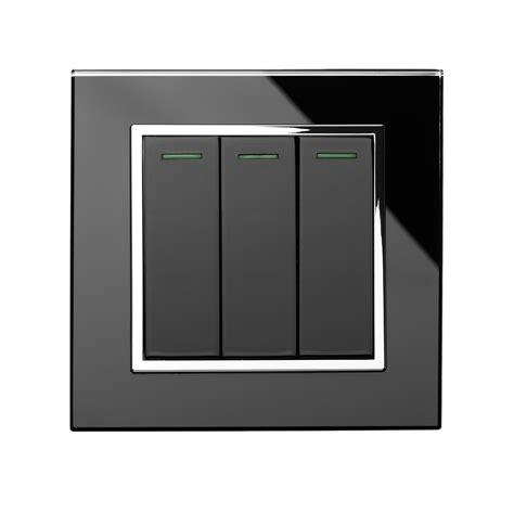 black on light switch glass switch glass 3 1 way 10 rocker onoff light