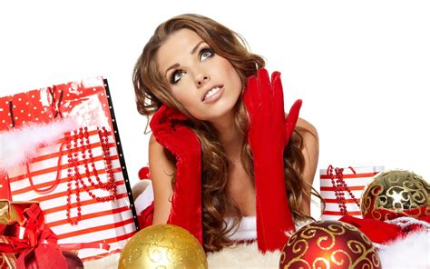 hot christmas girls wallpaper 1049233