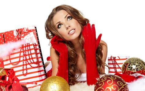 hot christmas girls wallpaper 1049233