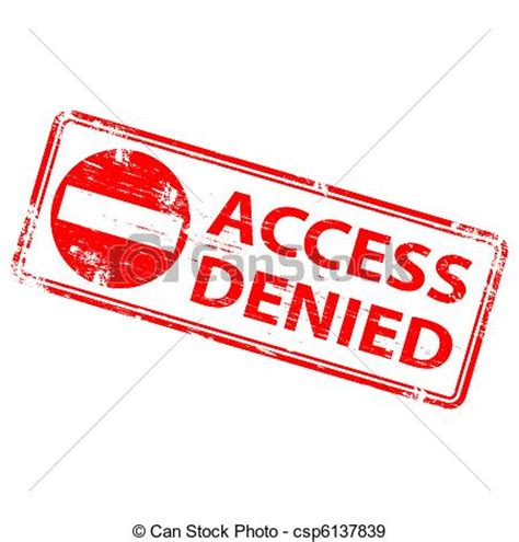 denied rubber st free graphic of access denied eps vectors of access