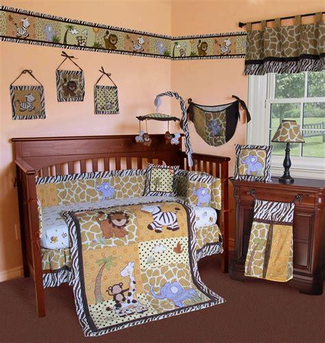 Safari Themed Crib Bedding Dazzling Safari Crib Bedding With Classic Table L