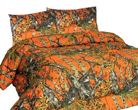 new orange forest camo microfiber comforter bed spread queen