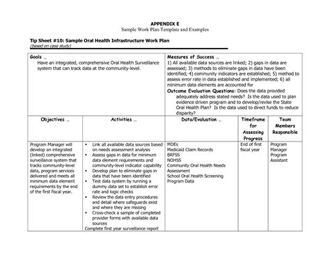 individual work plan template best photos of template of work plan free work plan