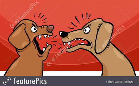 angry barking illustration of angry barking dogs