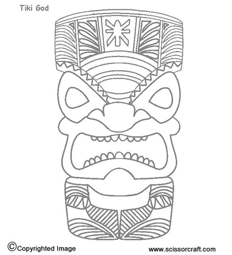 hawaiian tiki mask coloring pages printable tiki masks