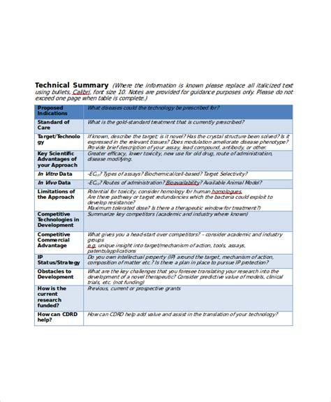 project summary template 10 project summary templates pdf doc free premium