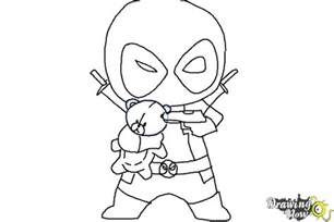 draw chibi deadpool drawingnow