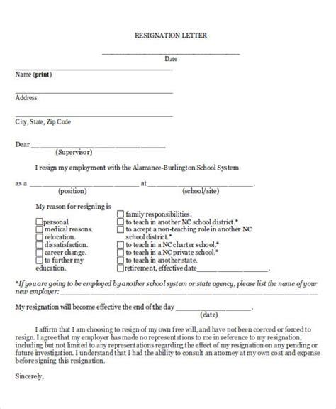 sample resignation letter template premium