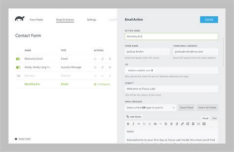 design form wordpress ninjas forms 3 0 wordpress admin admin design ui