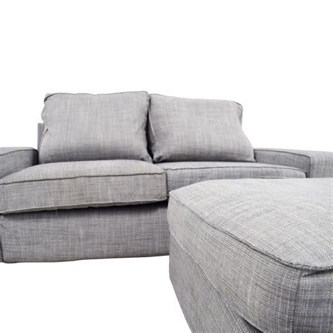 ikea sofa grey 64 off ikea ikea kivik gray sofa and ottoman sofas