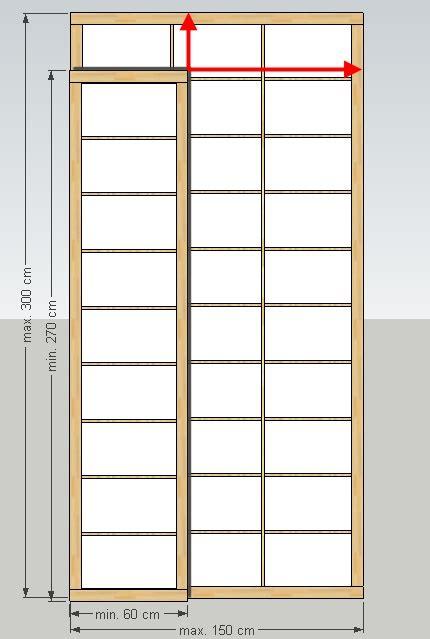 öko futon shoji element xl breite 60 150 x h 246 he l 228 nge 270 300 cm
