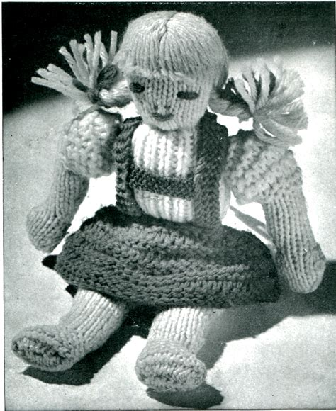 vintage knitted patterns vintage knitted doll pattern vtns fan freebie friday