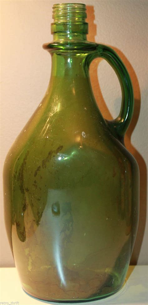 green liquor handling 80 fluid ounces 2 27 liter empty large green glass liquor bottle 12 5 quot whiskeys top
