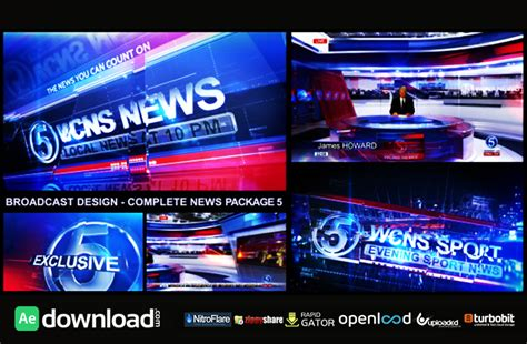 Broadcast Design Complete News Package 5 Free After Effects Project Videohive Free After Broadcast After Effects Template