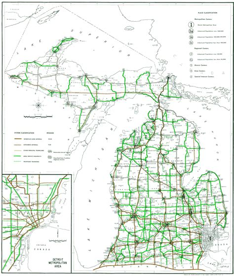 road map of michigan michigan highway map my