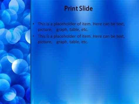 Free Blue Snowflakes Powerpoint Template Background For Snowflake Powerpoint Template