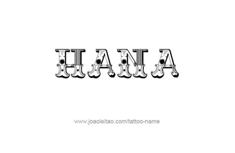 hana tattoo design name hana 29 png
