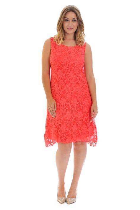 Dress Tile Lace New new womens plus size dress floral lace tunic flapper sleeveless nouvelle ebay