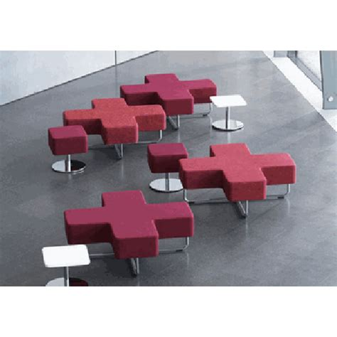 lobby seating benches allermuir jaks modular cross shape lounge lobby reception