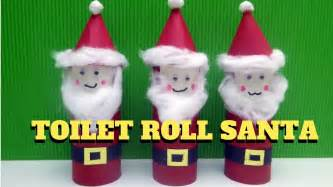 Santa Toilet Paper Roll Craft - craft toilet paper roll santa claus toilet