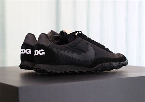 Nike Waffle X Cdg comme des garcons nike waffle racer black on display sneakernews