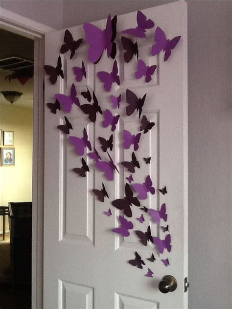 How To Make Paper Butterfly Decorations - paper butterfly wall diy butterfly
