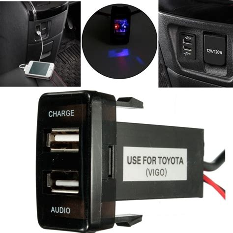 3 In 1 Travel Charger 2 1a 12v 5v 2 1a usb port cell phone mp3 charger audio input