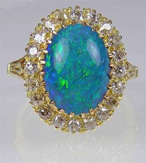 antique opal ring sold