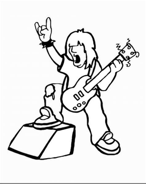 coloring page rock star rock star coloring pages birthday printable