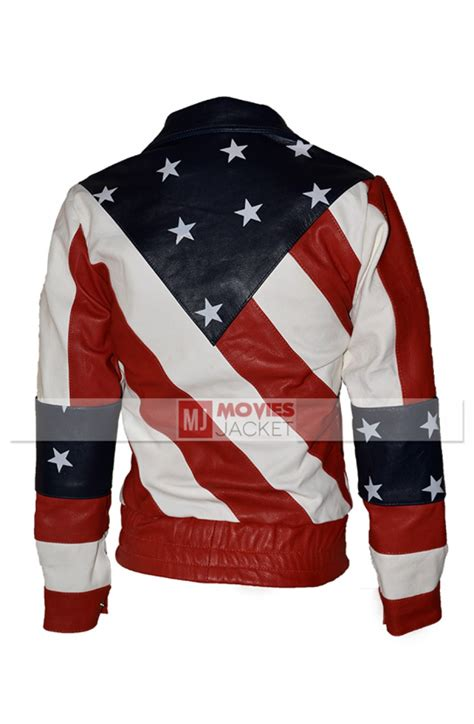 Jaket American American Flag Womens Leather Motorcycle Jacket