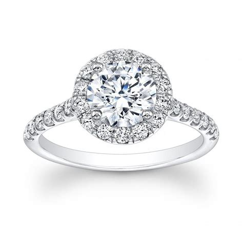 18kt white gold engagement ring with
