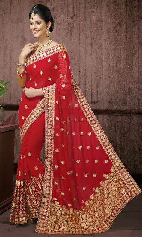 Superb Red Colour Bridal Saree DN.47869   Love for all