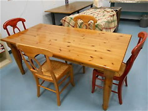 Knotty Pine Dining Room Set by New 5 Amish Dining Set Knotty Pine Table 4 Maple Chairs Seats Ebay