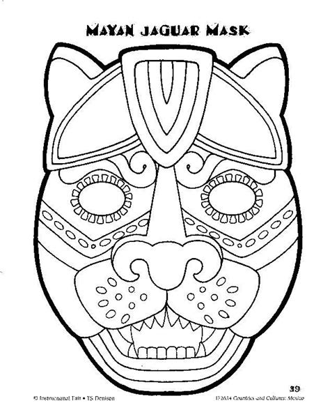 aztec mask template mayan mask template search wednesday