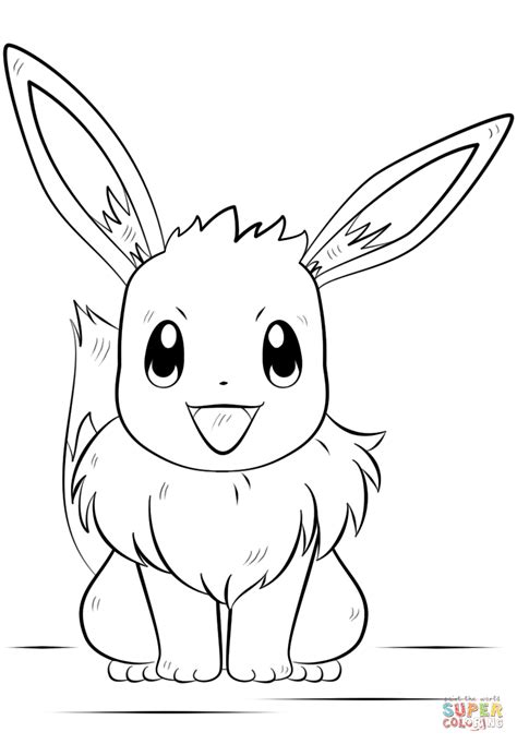 eevee pokemon coloring page free printable coloring pages