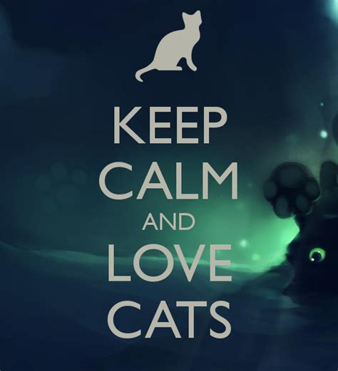 Love Wall Stickers keep calm and love cats keep calm and carry on image