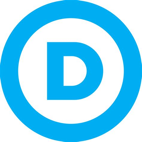 blue democrat file us democratic logo svg