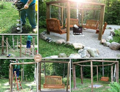 diy pit swing set 20 fabulous diy patio and garden swings www fabartdiy part 4