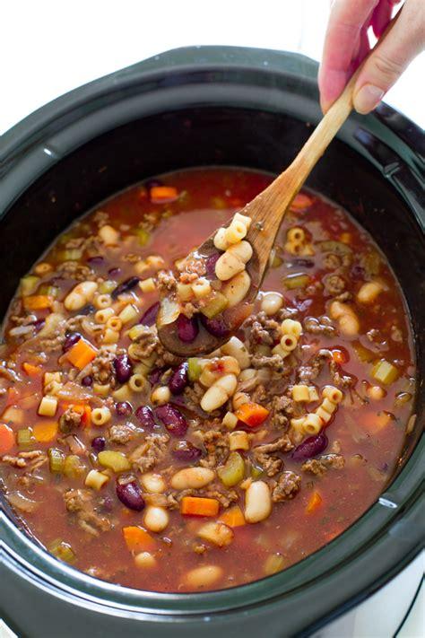 slow cooker pasta e fagioli soup the recipe critic