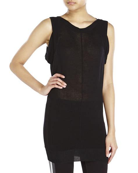 black knit tunic yohji yamamoto sleeveless knit tunic in black lyst